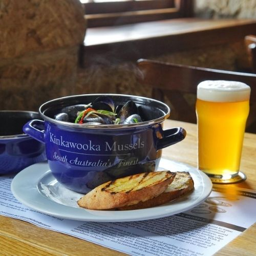 Mussels with Cider and Creme Fraiche