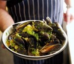 Smoked Mussels with Garlic, Butter and Herbs
