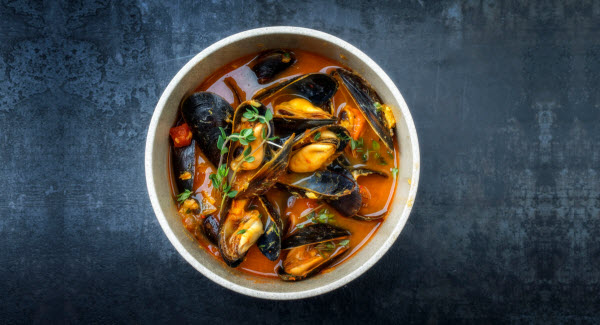 Traditional French Corsican mussel stew